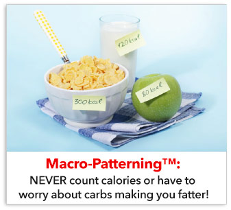 NEVER count calories or have to worry about carbs making you fatter!